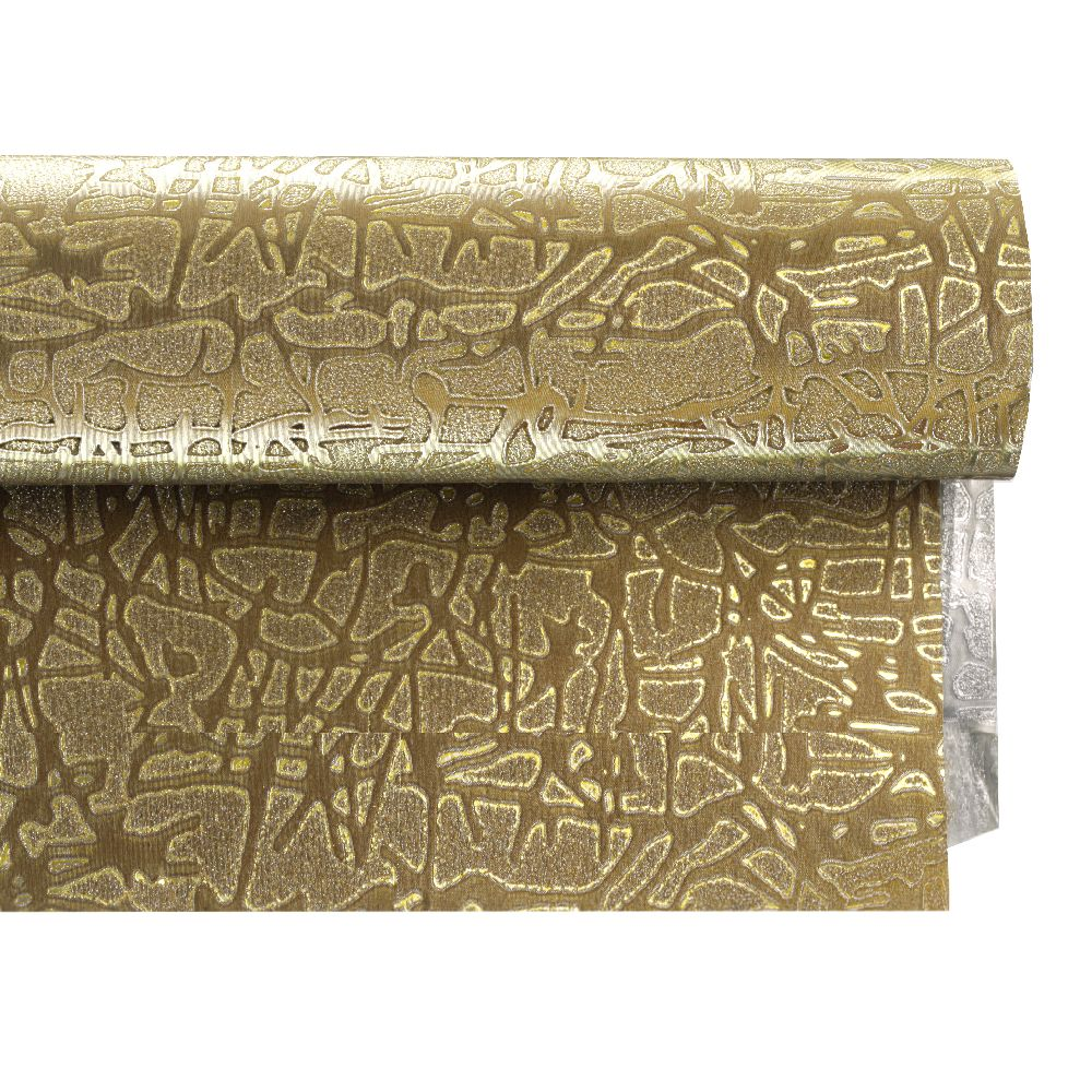 Хартия опаковъчна 700x500 мм двулицева цвят сребро/ злато