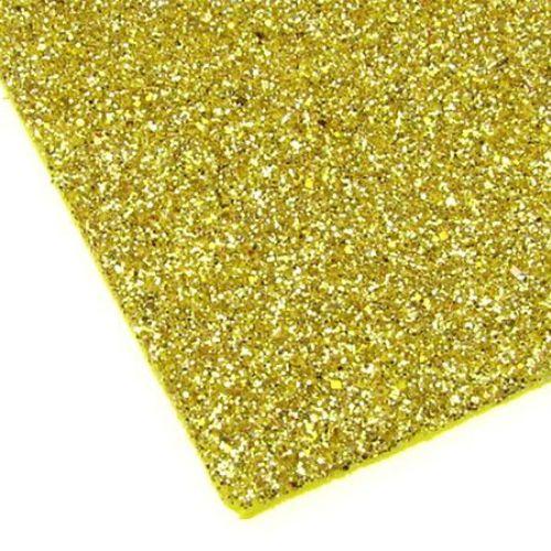 EVA / αφρώδες υλικό 2mm A4 20x30 cm χρυσό με χρυσόσκονη