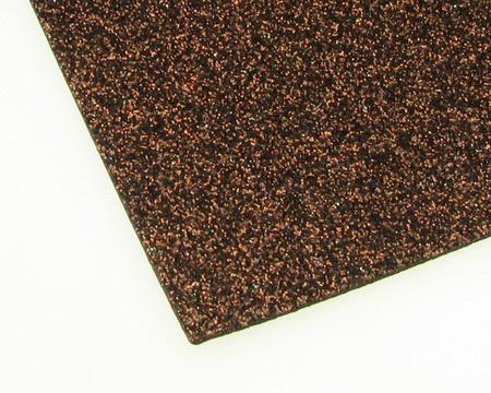 EVA Foam Glitter Brown, A4 Sheet 20x30cm 2mm DIY Craft, Decoration