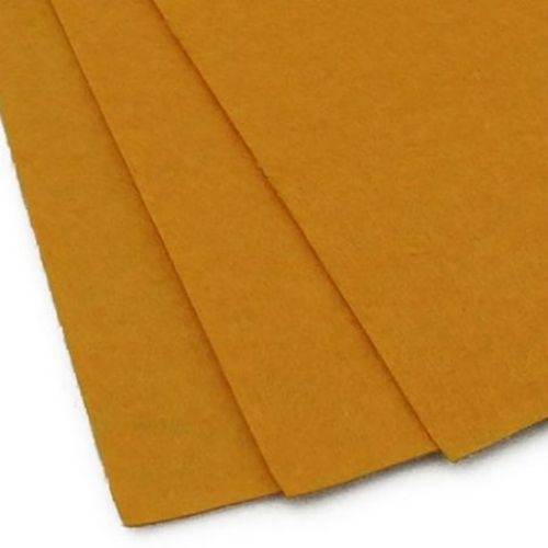 Felt Sheet, DIY Crafts 1 mm A4 20x30 cm color orange dark -1 pc
