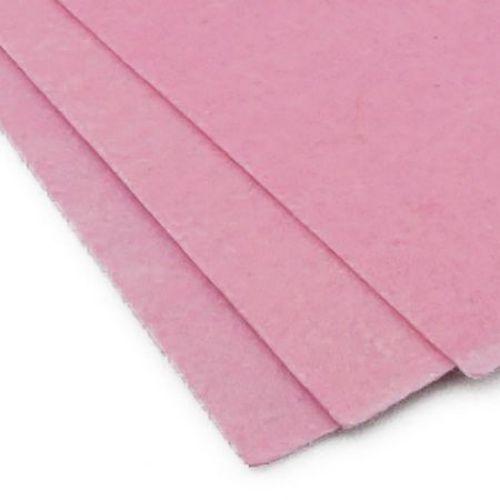 Felt Sheet, DIY Crafts Sewing Decoration 1 mm A4 20x30 cm color pink -1 piece