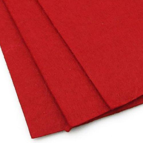 Acrylic Felt Sheet, DIY Craft Handmade 2 mm A4 20x30 cm color red -1 pc