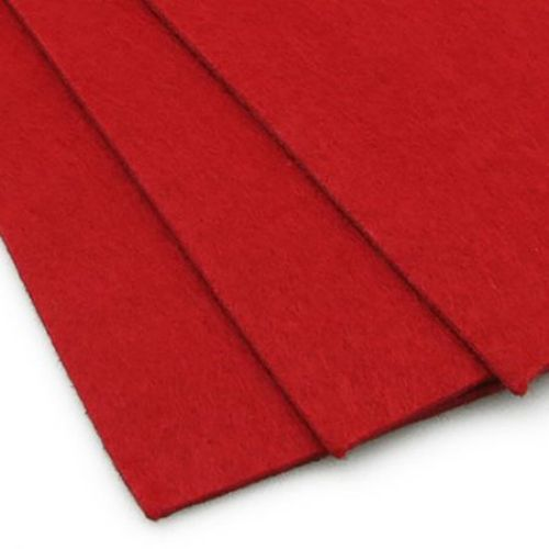 Felt Fabric Sheet, DIY Craftwork Scrapbooking 3 mm A4 20x30 cm color red -1 pc