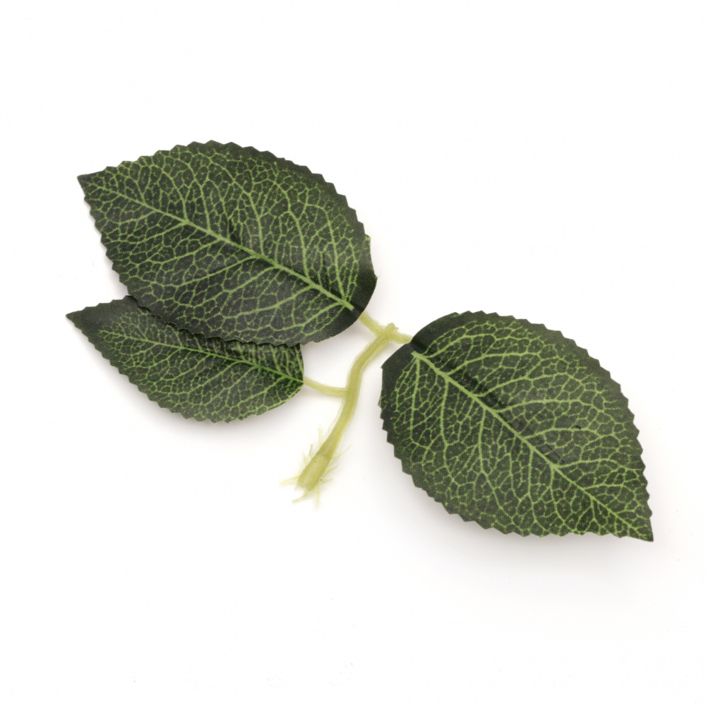 Fabric Leaf Branch for Decoration 150x70 mm handle 40 mm -5 pieces