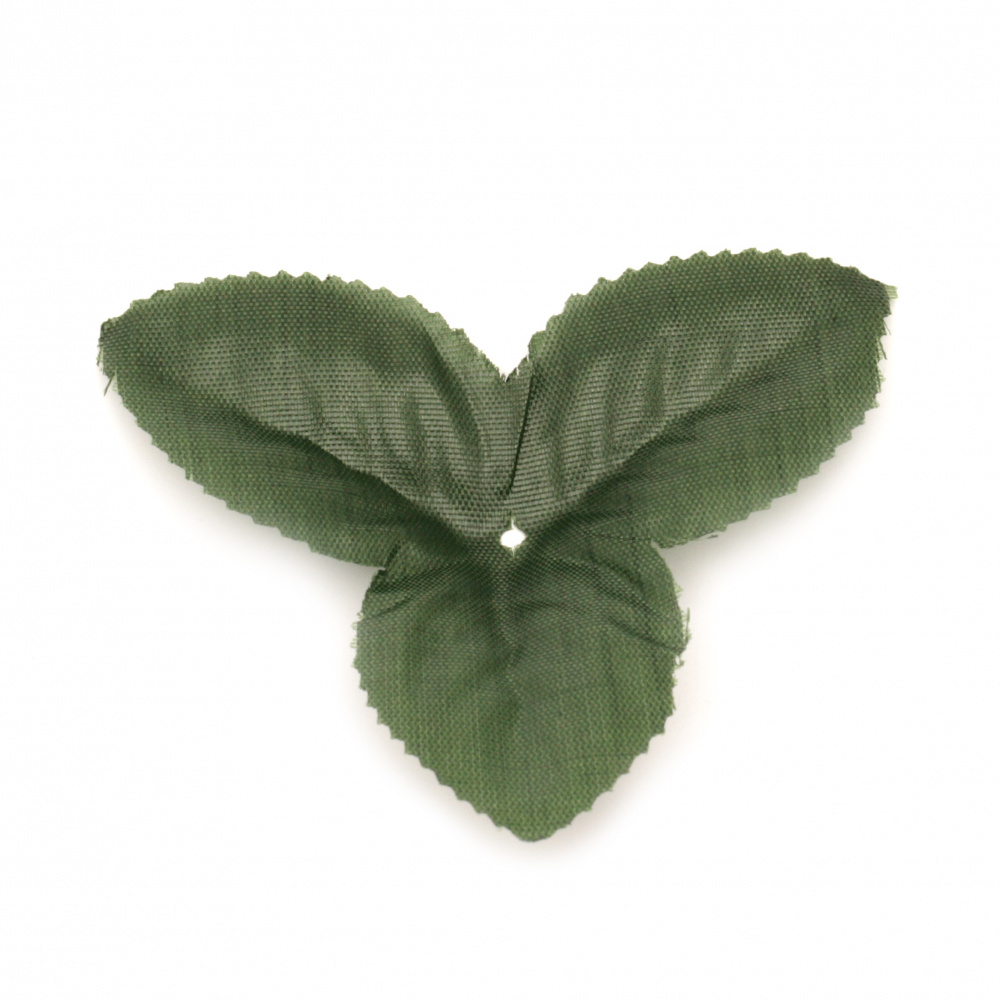 Διακοσμητικό υφασμάτινο φύλλο 85 mm πράσινο σκούρο - 4 γραμμάρια ~ 14 τεμάχια