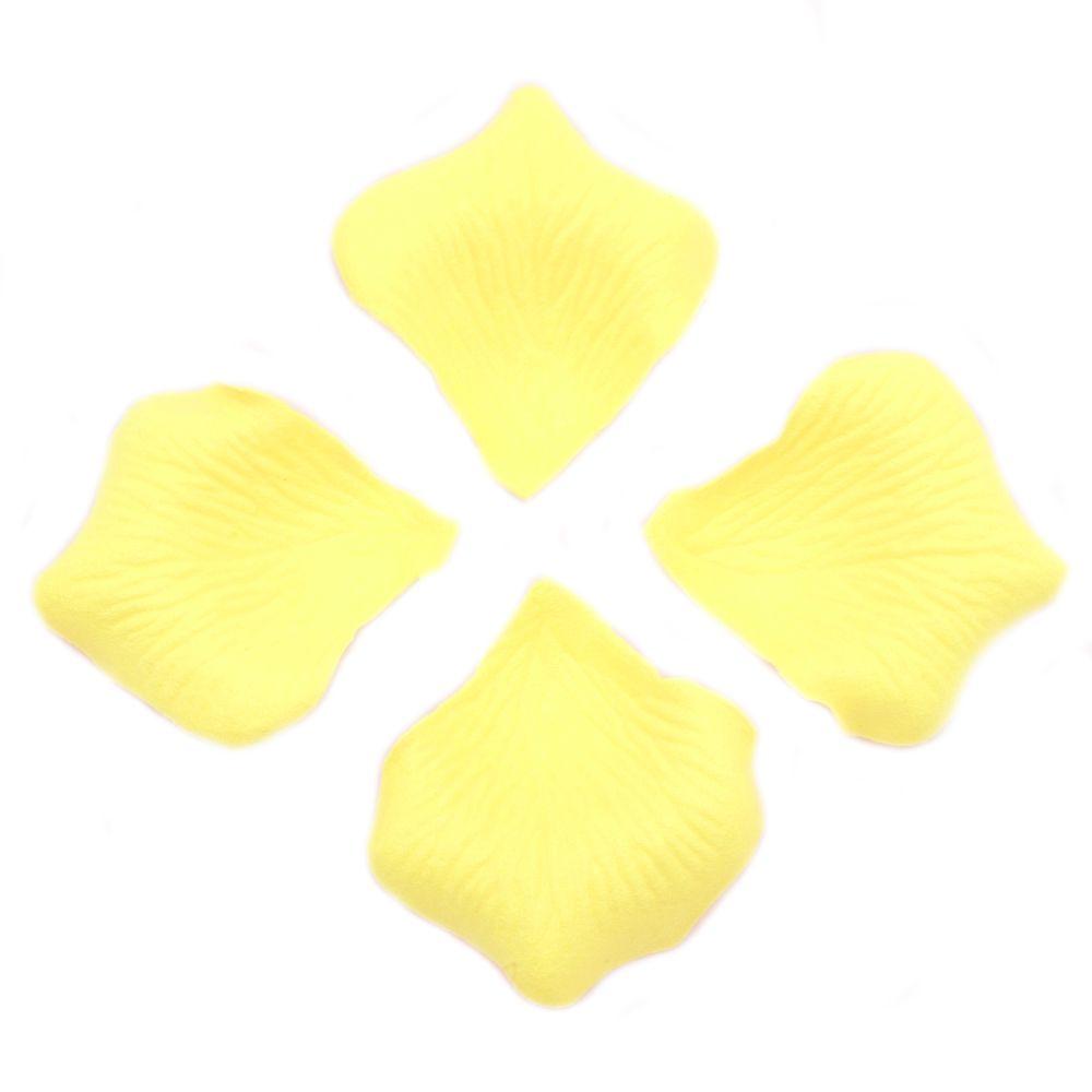 Decorative Paper Leaf  lemon yellow -144 pieces