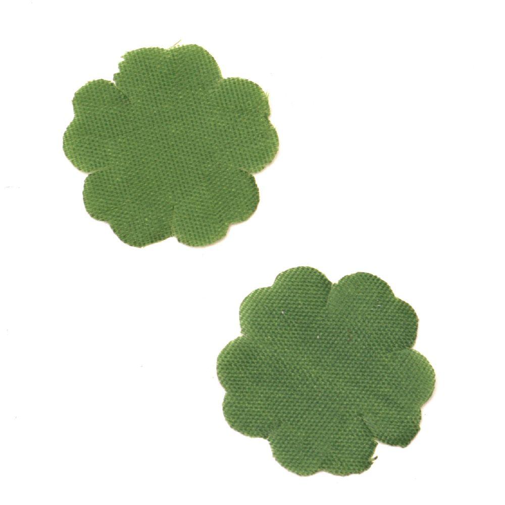 Детелина текстил 35 мм зелена-3 грама ~ 50 броя