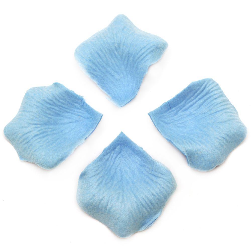 Paper Leaves for Decoration light blue -144 pieces