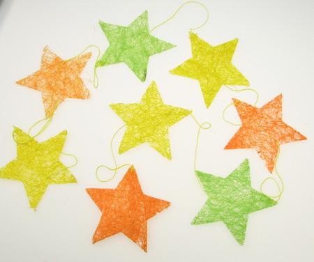 Garland star 8 pieces color 168 cm