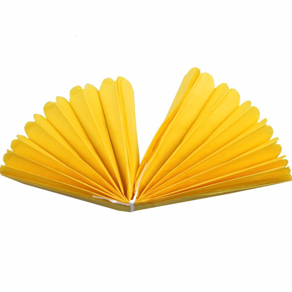 Hârtie pompon pentru decorare 400x33 mm galben de hârtie tissue