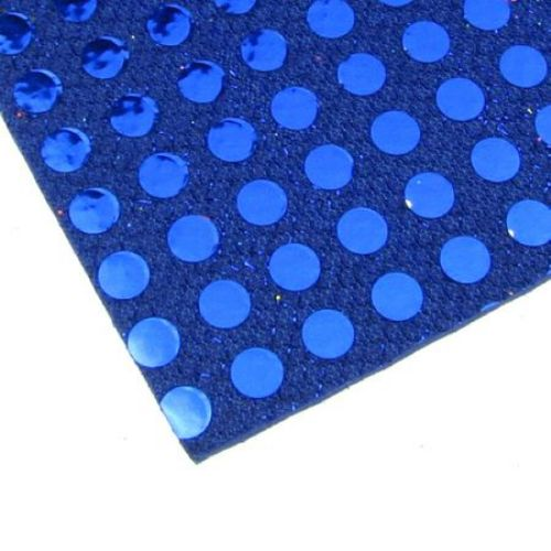 EVA Foam Blue Glossy on Points, A4 Sheet 20x30cm 2mm DIY Scrapbooking & Decoration