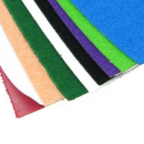 Material EVA / cauciuc microporos / 2 mm A4 20x30 cm gofrat autocolant ASORTE culori -10 coli