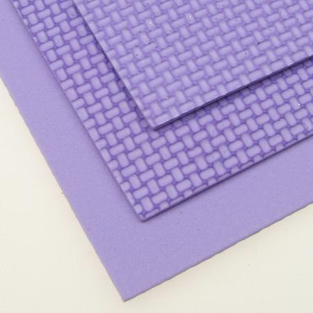 E.V.A. Embossed Foam Purple Light, A4 Sheet 20x30cm 2mm DIY Craft, Decoration
