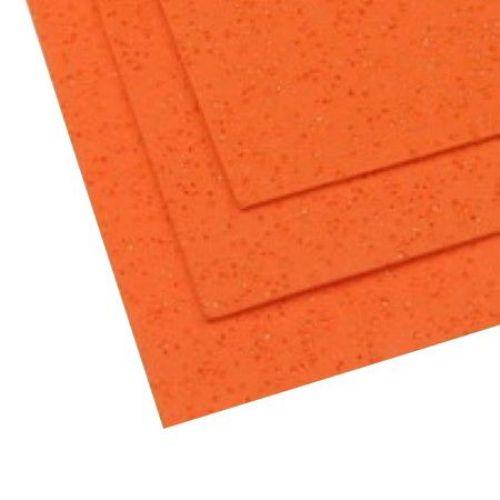 EVA материал /микропореста гума/ 2 мм А4 20x30 см двустранен на дупчици с блясък оранжев