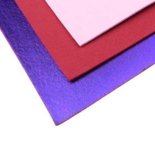 Material EVA / cauciuc microporos / 2 mm A4 20x30 cm violet metalizat