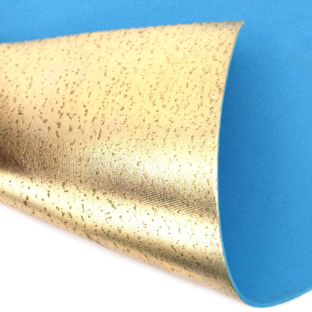 Material EVA / cauciuc microporos / 2mm A4 20x30 cm culoare aurie metalică