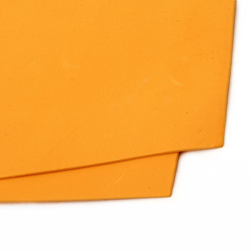 EVA материал /микропореста гума/ 2 мм А4 20x30 см оранжев светло