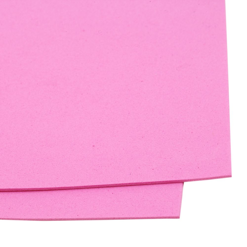 EVA foam for art decoration, scrapbook projects, A4 sheet 20x30 cm 2 mm pink