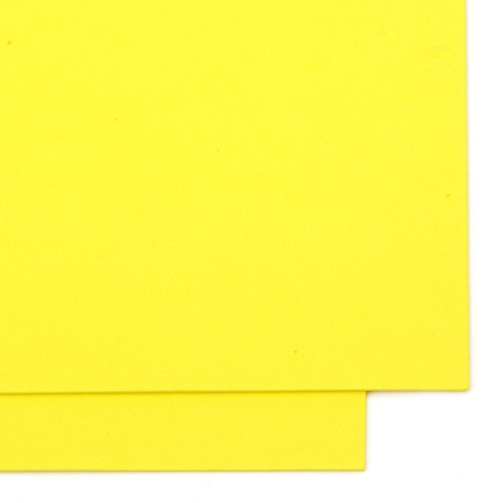 EVA Foam Yellow, A4 Sheet 20x30cm 1.5mm