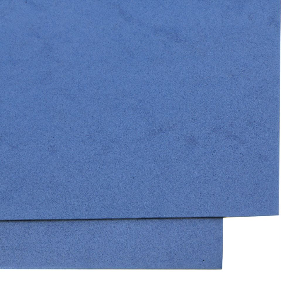 Material EVA / cauciuc microporos / 1,5 mm A4 20x30 cm albastru