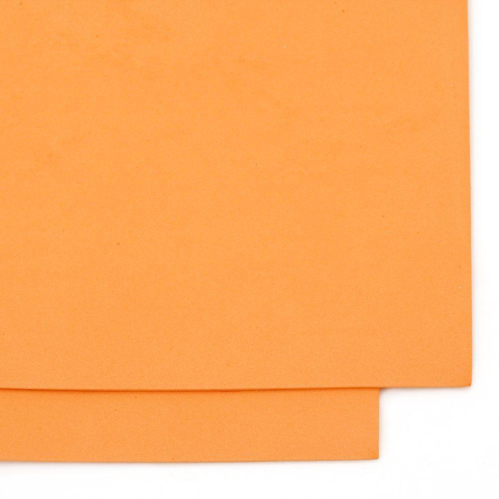 EVA материал /микропореста гума/ 1.5 мм А4 20x30 см оранжев