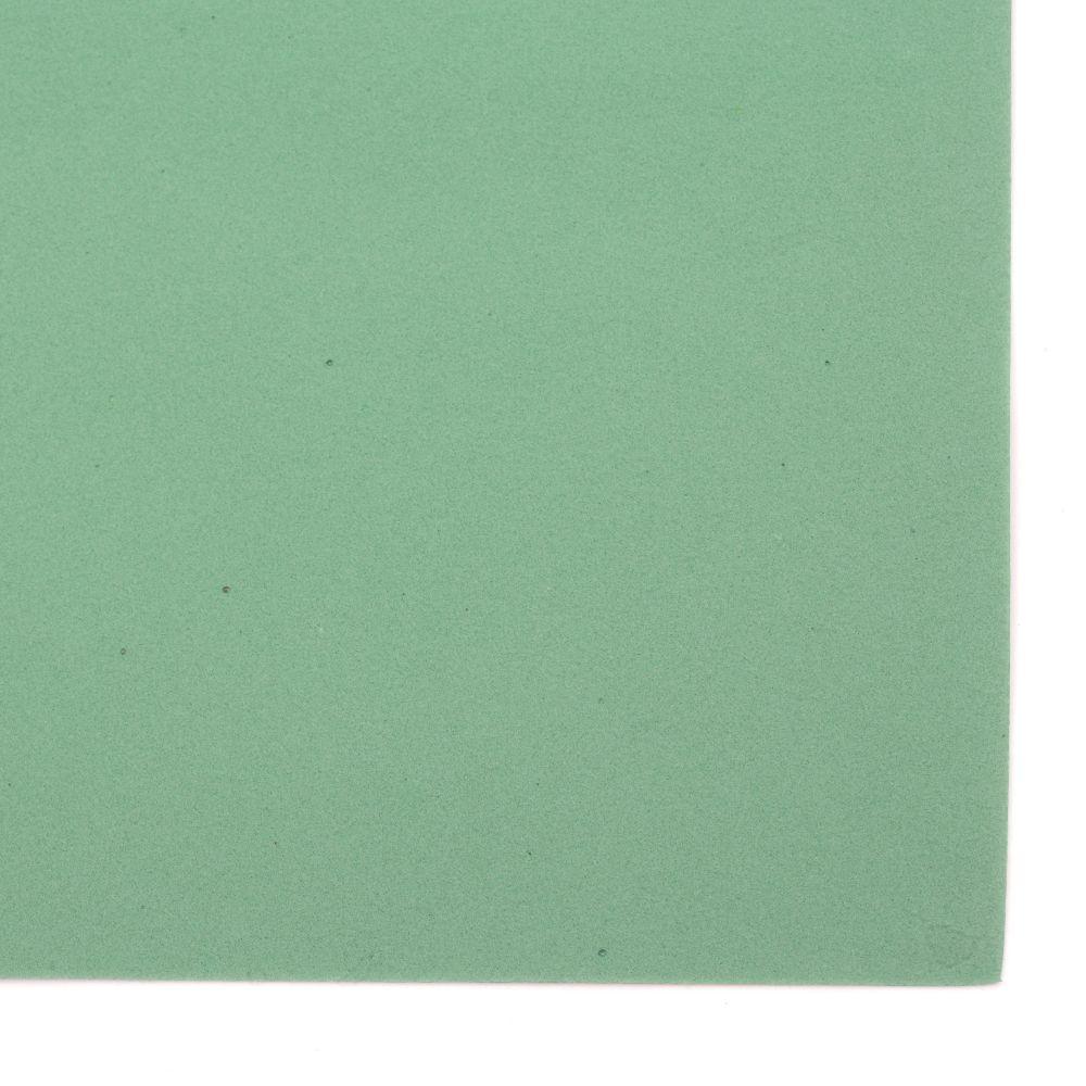 EVA материал /микропореста гума/ 0.8~0.9 мм А4 20x30 см зелен тъмно