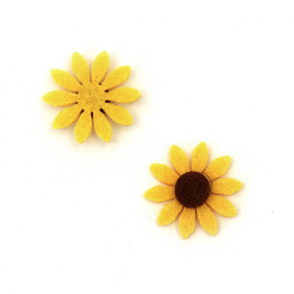 Pâslă de floarea-soarelui 19 mm -10 bucăți