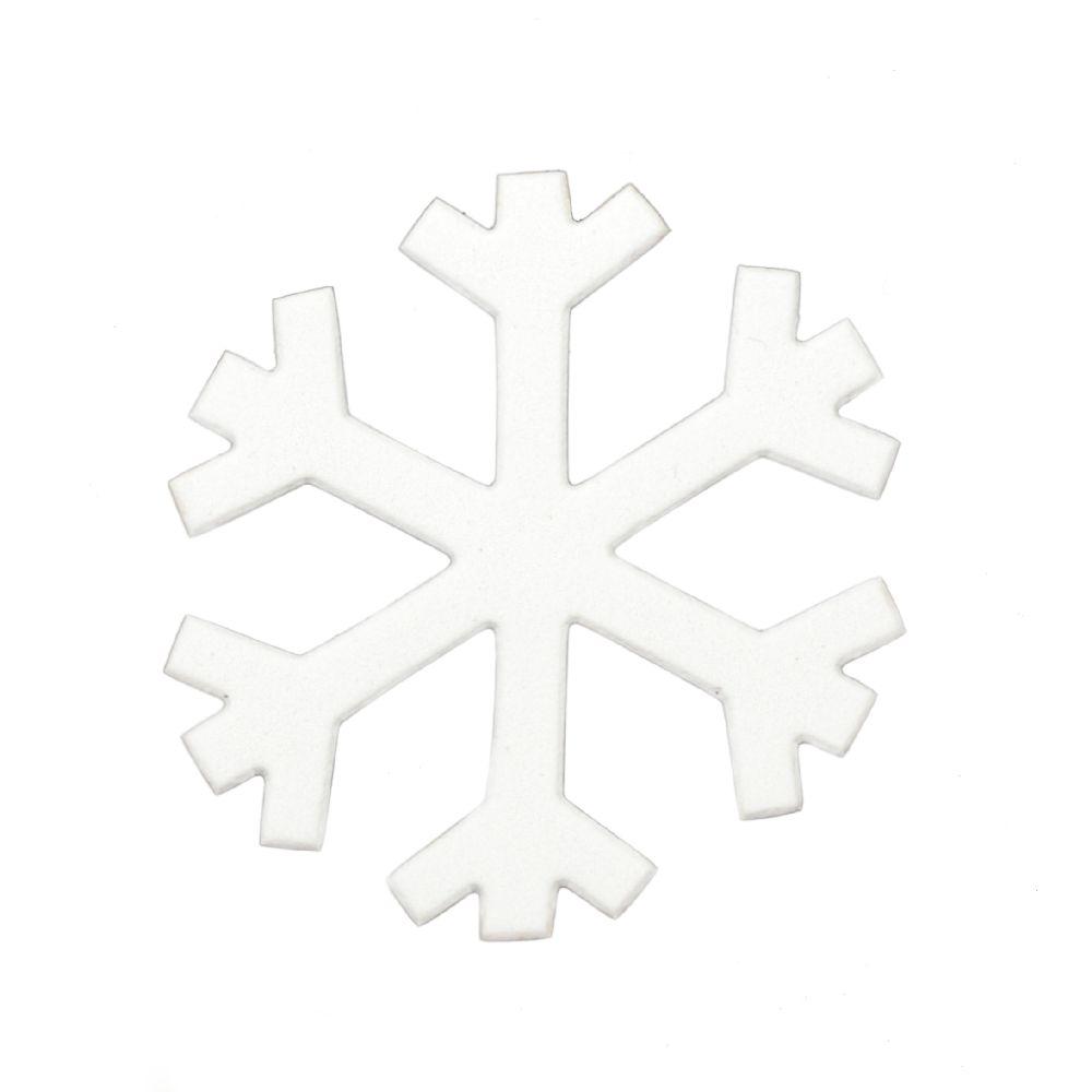 Foam Snowflake for Embellishment /EVA foam material/ 96x2mm - 5 pcs.