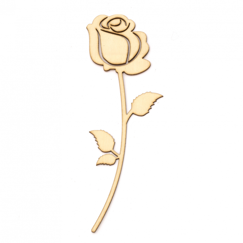 Wooden Figurine for decoration rose 20x7 cm