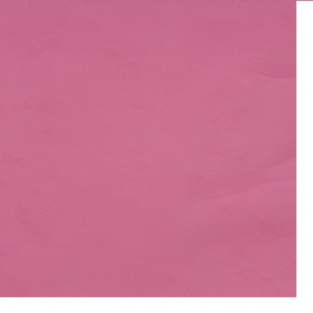 Cauciuc spumat / microporos / 0,8 ~ 0,9 mm 50x50 cm culoare ciclamen