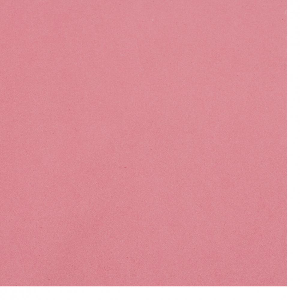 Cauciuc spumat / microporos / 0,8 ± 0,9 mm 50x50 cm roz
