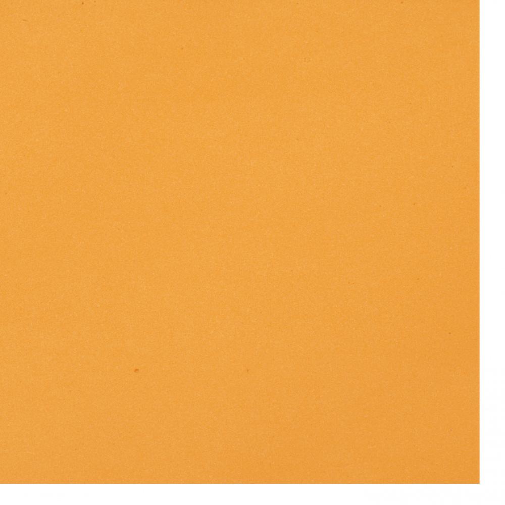 Cauciuc spumat / microporos / 0,8 ~ 0,9 mm 50x50 cm culoare portocaliu
