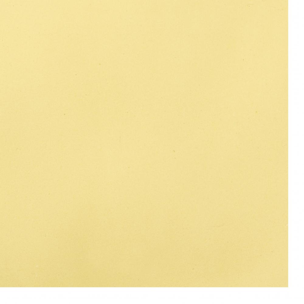 Cauciuc spumat / microporos / 0,8 ~ 0,9 mm 50x50 cm culoare galben deschis