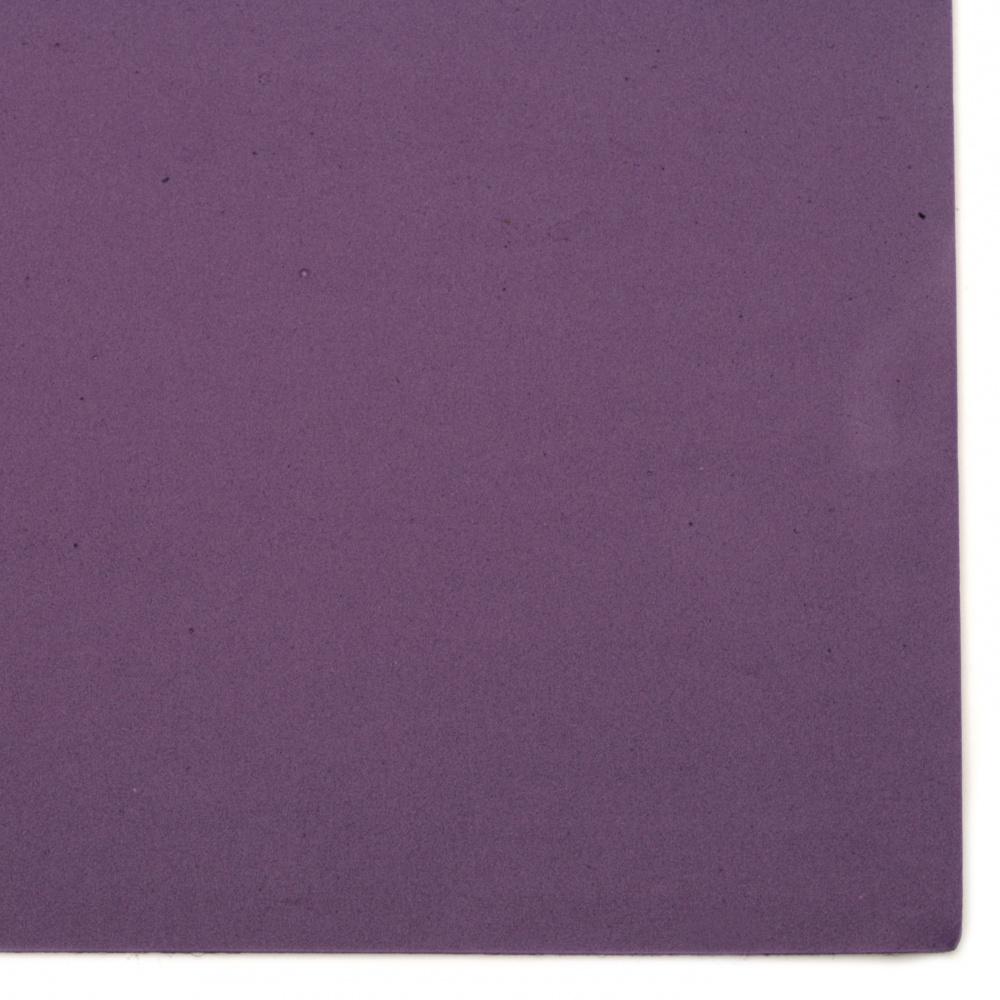 EVA материал /микропореста гума/ 2 мм А4 20x30 см лилав тъмно