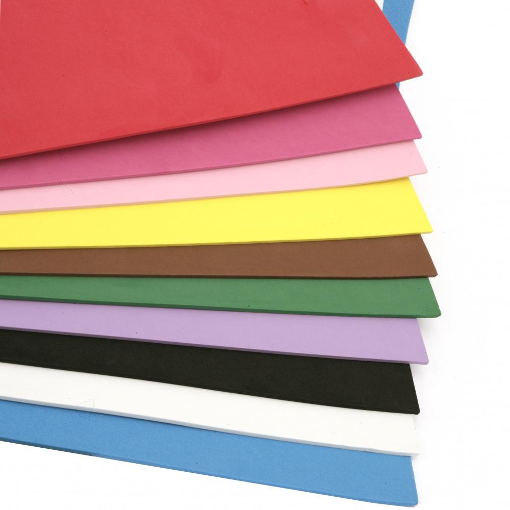 EVA / αφρώδες υλικό 3 mm 50x70 cm MIX χρώματα -1 φύλλο