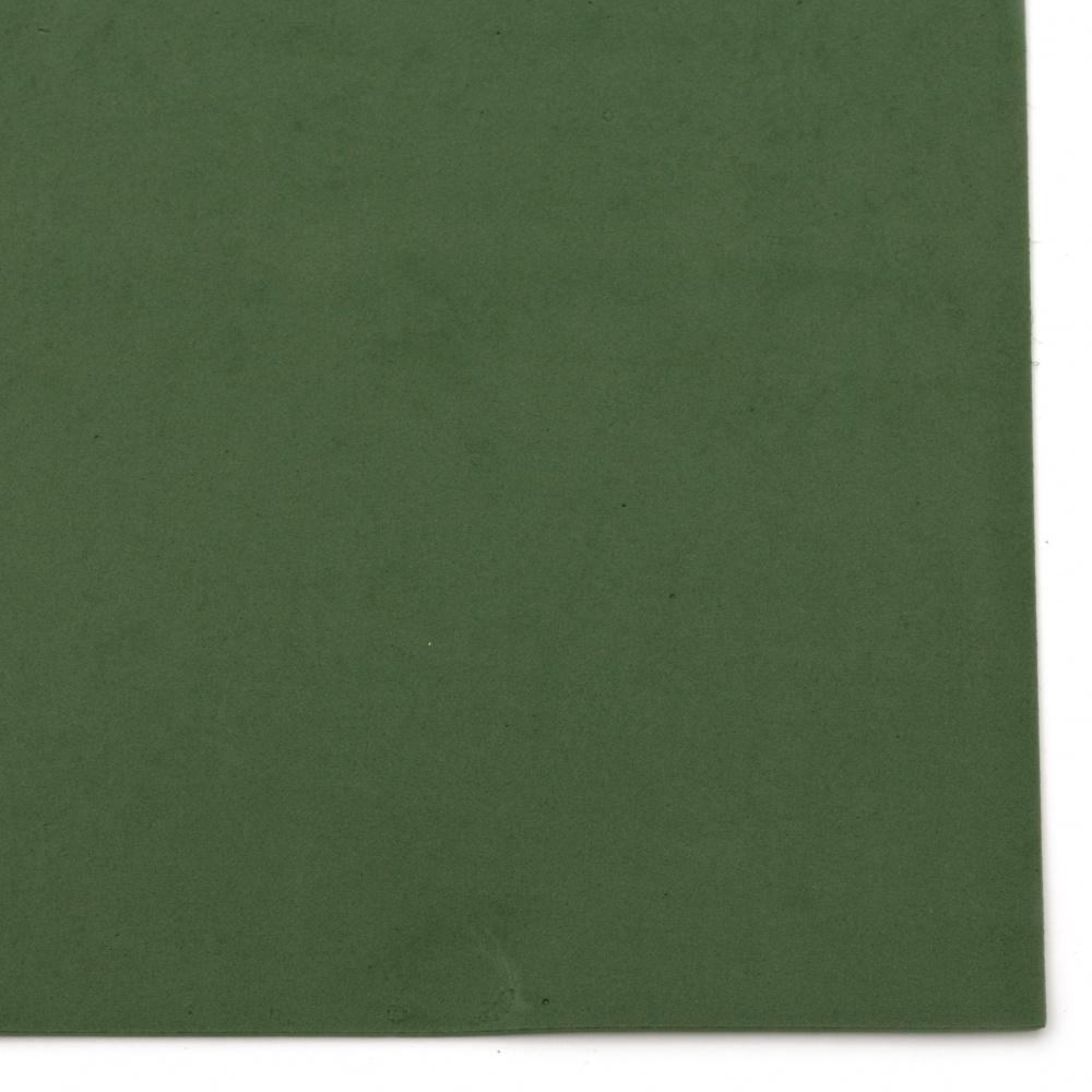 Material EVA / cauciuc microporos / 2 mm A4 20x30 cm verde închis