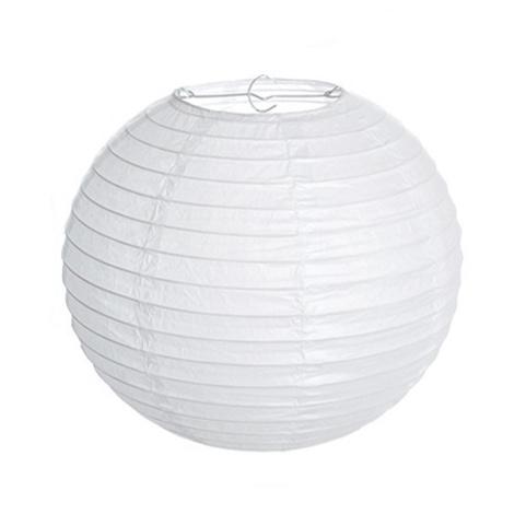 Хартиен фенер 25 см цвят бял