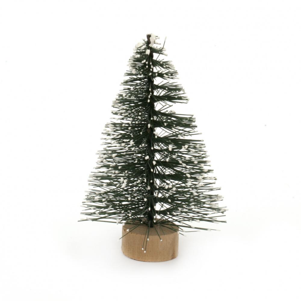 Χριστουγεννιάτικο δέντρο διακοσμητικό 80x55 mm πράσινο σε βάση