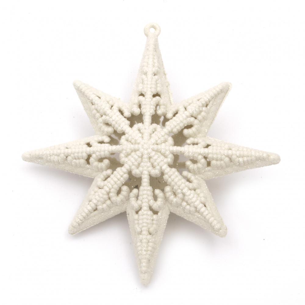 Декорация коледна звезда 110x40 мм с брокат