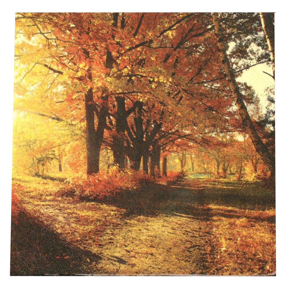 Салфетка за декупаж Ambiente 33x33 см трипластова Autumn Park -1 брой