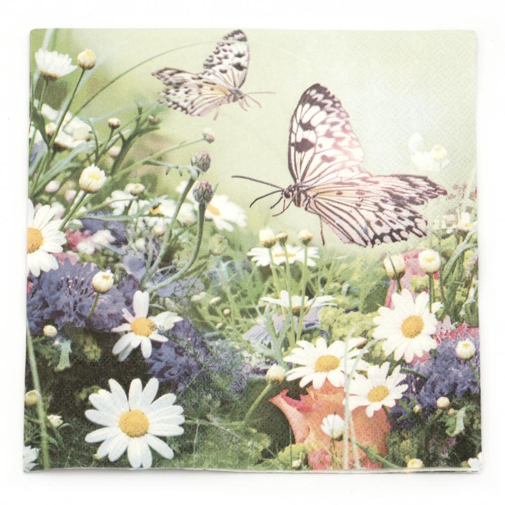 Салфетка за декупаж Ambiente 33x33 см трипластова Wildflowers -1 брой