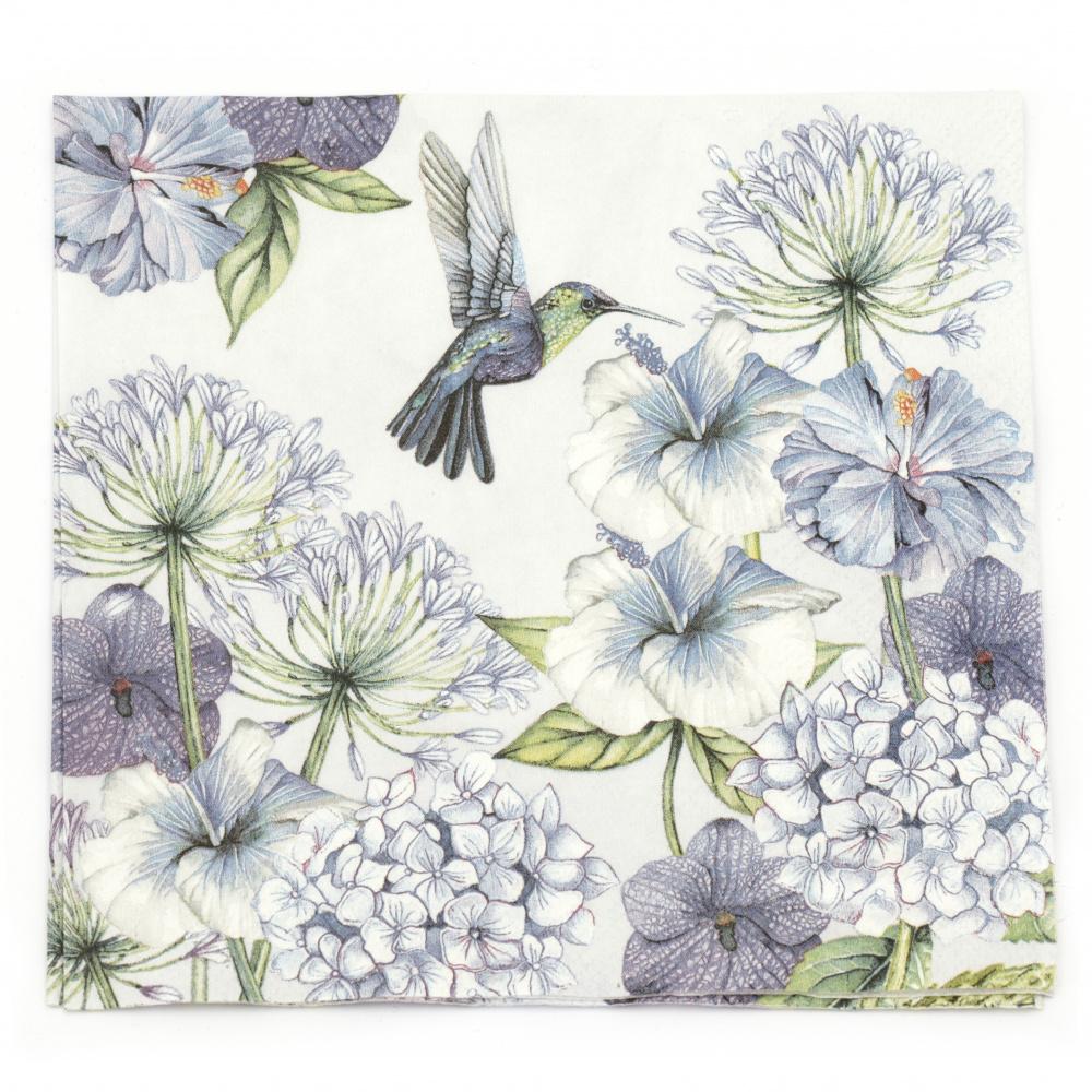 Салфетка за декупаж Ambiente 33x33 см трипластова Hummingbird -1 брой