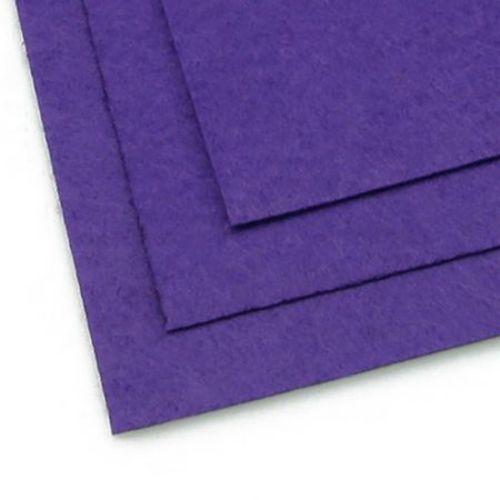 Fabric Felt Sheet, DIY Crafts Sewing Decoration 1 mm A4 20x30 cm color purple dark -1 piece