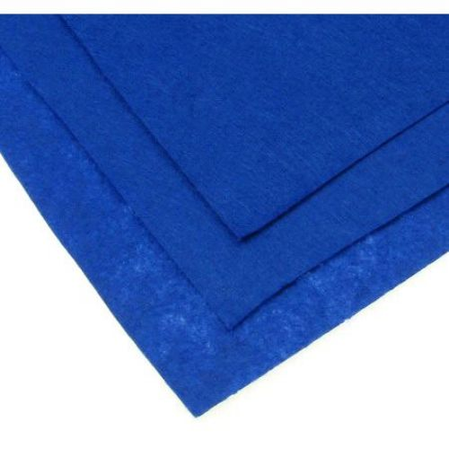 Fabric Felt Sheet, DIY Crafts Sewing Decoration  1 mm A4 20x30 cm color blue indigo -1 piece