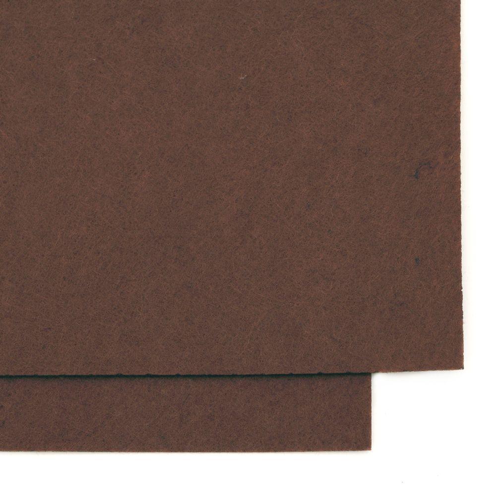 Φύλλο τσόχας 1 mm A4 20x30 cm καφέ -1 τεμάχιο