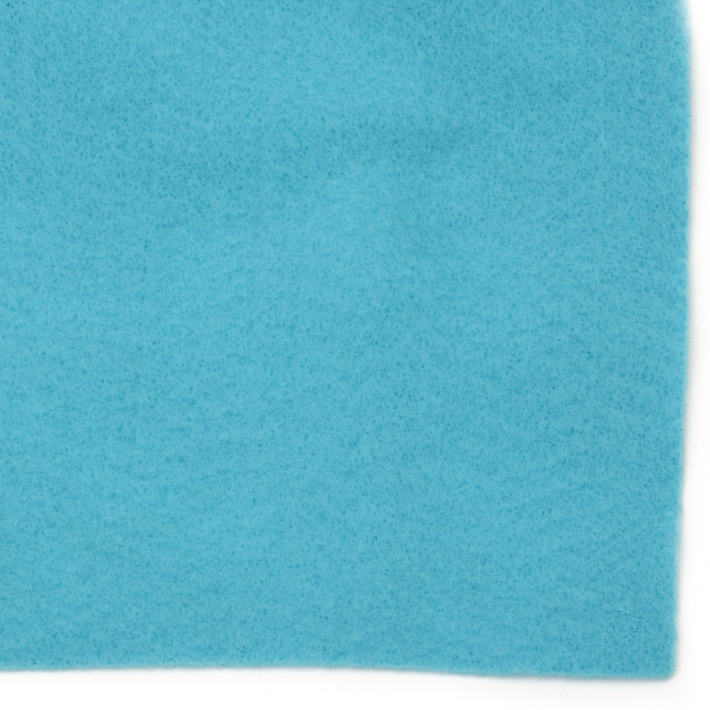 Soft Felt Fabric Sheet DIY Craftwork Decoration 1 mm A4 20x30 cm color blue light -1 piece