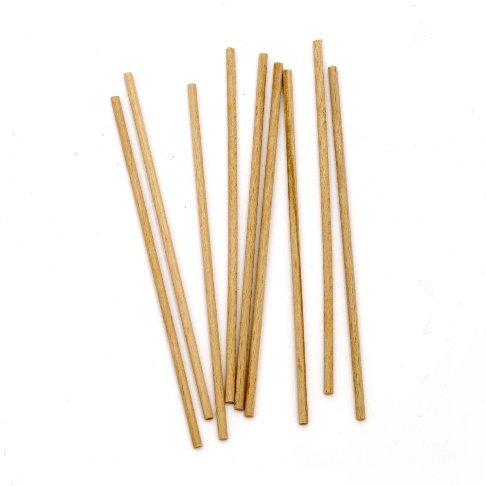 Bete din lemn 125x3 mm - 20 bucăți