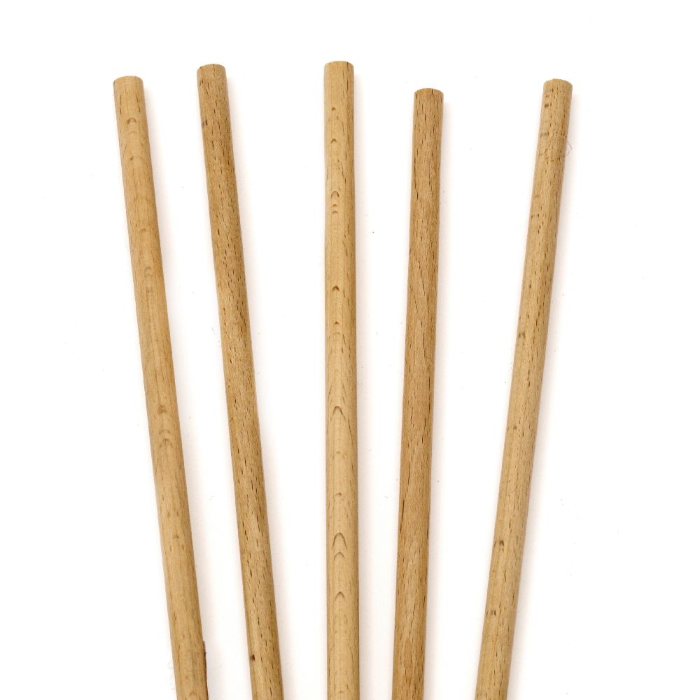 Natural color wooden sticks for decoration 300x8 mm - 5 pieces
