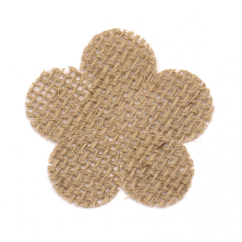 Element pentru decorare zeblo 55x55 mm floare cinci frunze -2 bucăți