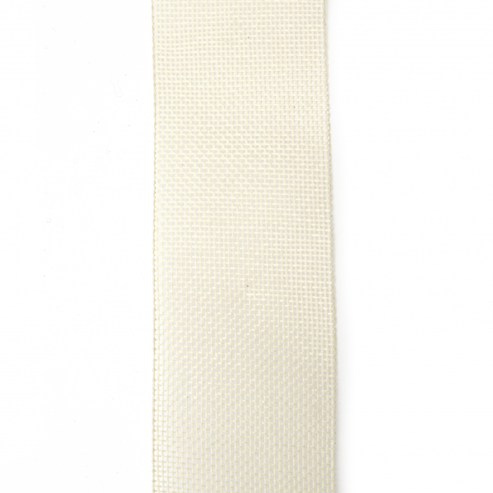Burlap Base for Application DIY Crafts Decorations, Embroidery 5 cm x10 meters, cream color